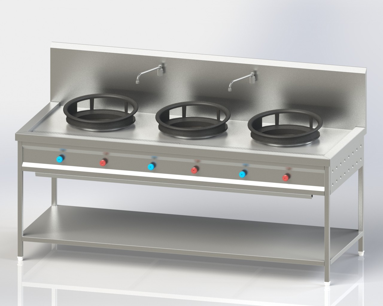 Three Burner Chineses Cooking Range