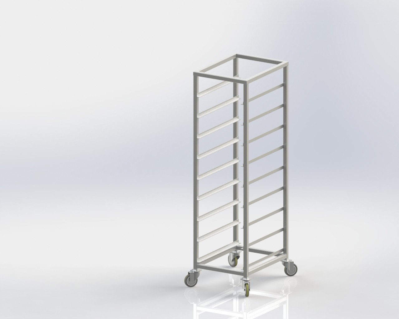 Vegetable Rack Trolley for commercial kitchen