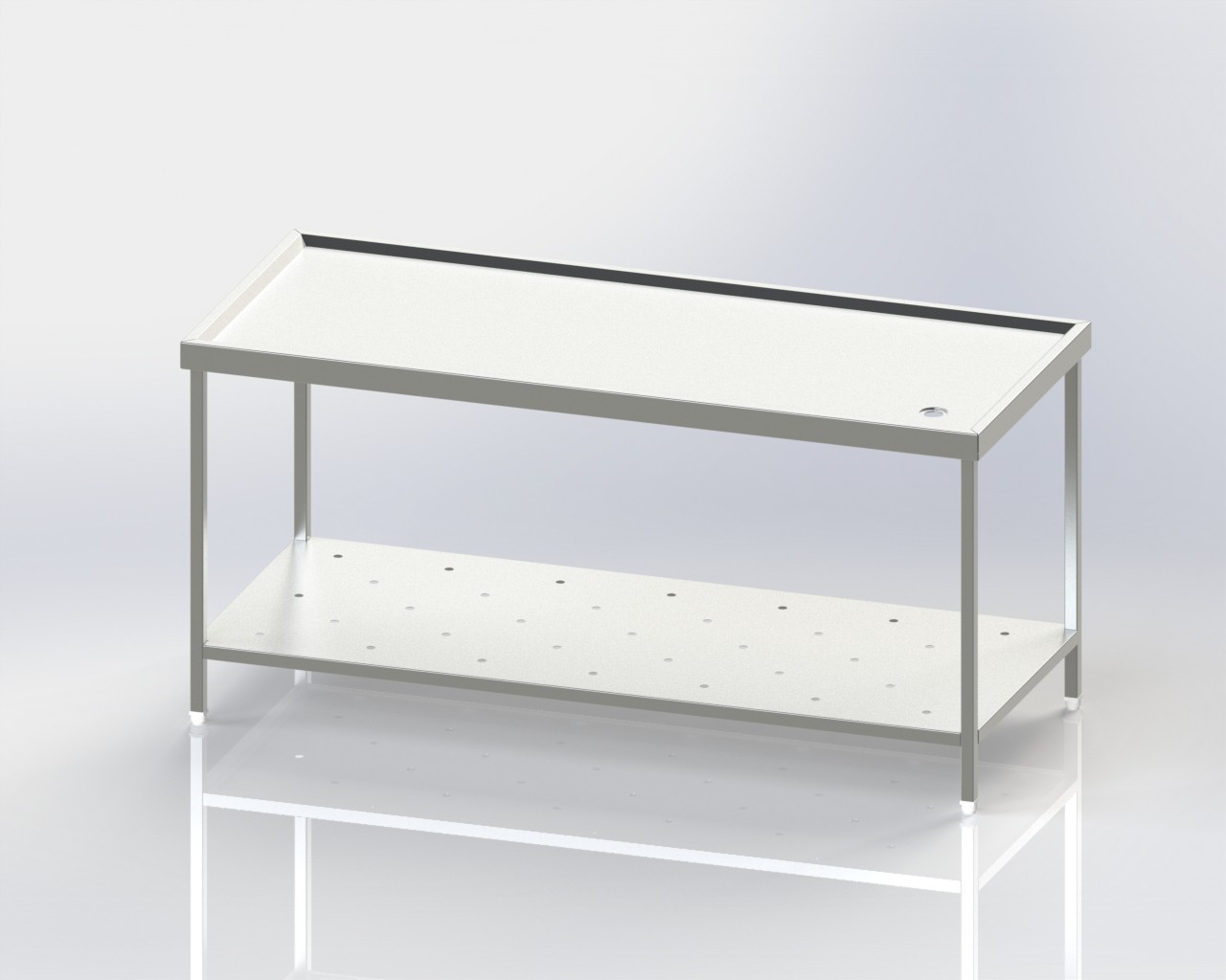 Clean Dish Table-Peforated Shelf