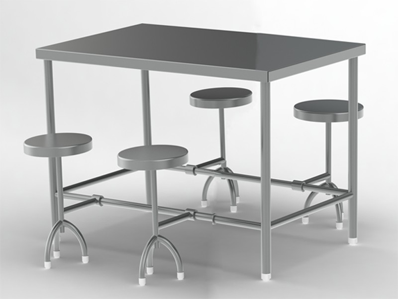 4-seater-folding-stool-canteen table
