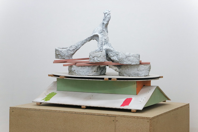 Harley Kuyck-Cohen: Allotment Assemblage (2018); Concrete, Foam, Wood, Sand. 70x60x80