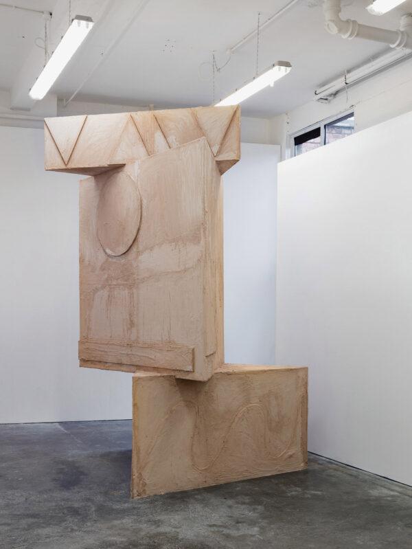 Jack Killick: Total Stand 2017 (Wood, plasterboard and plaster; 310 x 180 x 200cm)