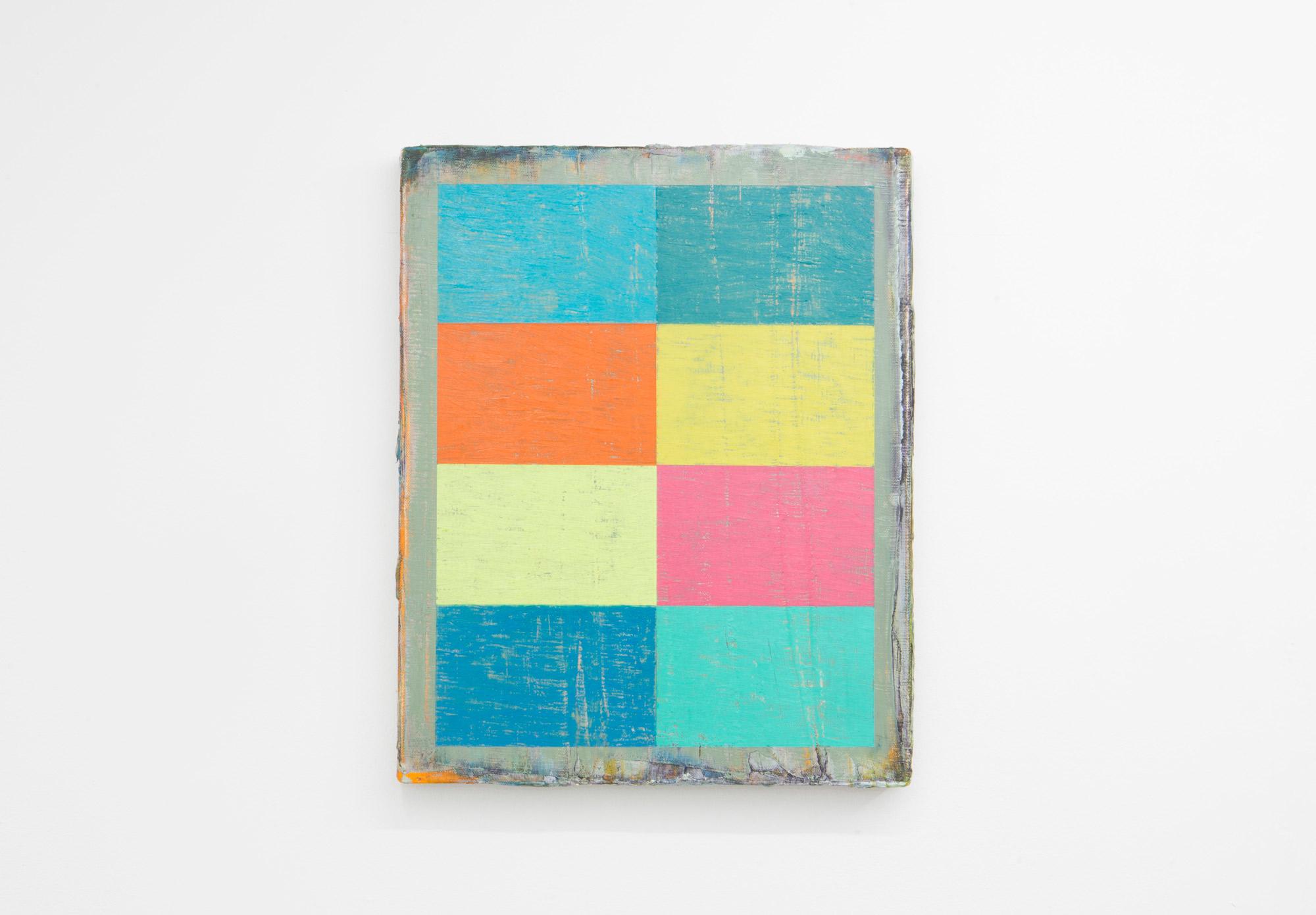 Rectangles (2019) Oil, oil bar and oil pastel on linen, (40cm x 50cm).