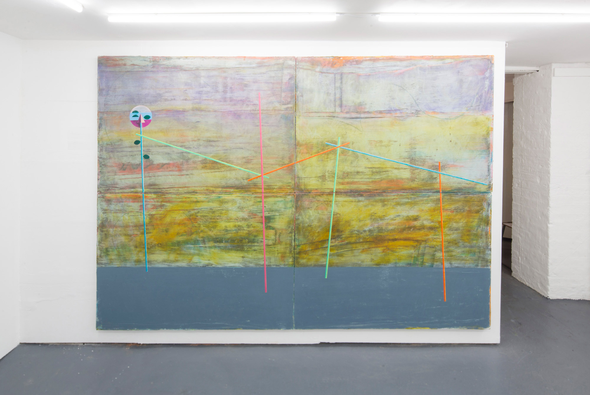 Rian Coughlan: Day's Said (2019) Oil, oil bar and oil pastel on linen, (180cm x 260cm).