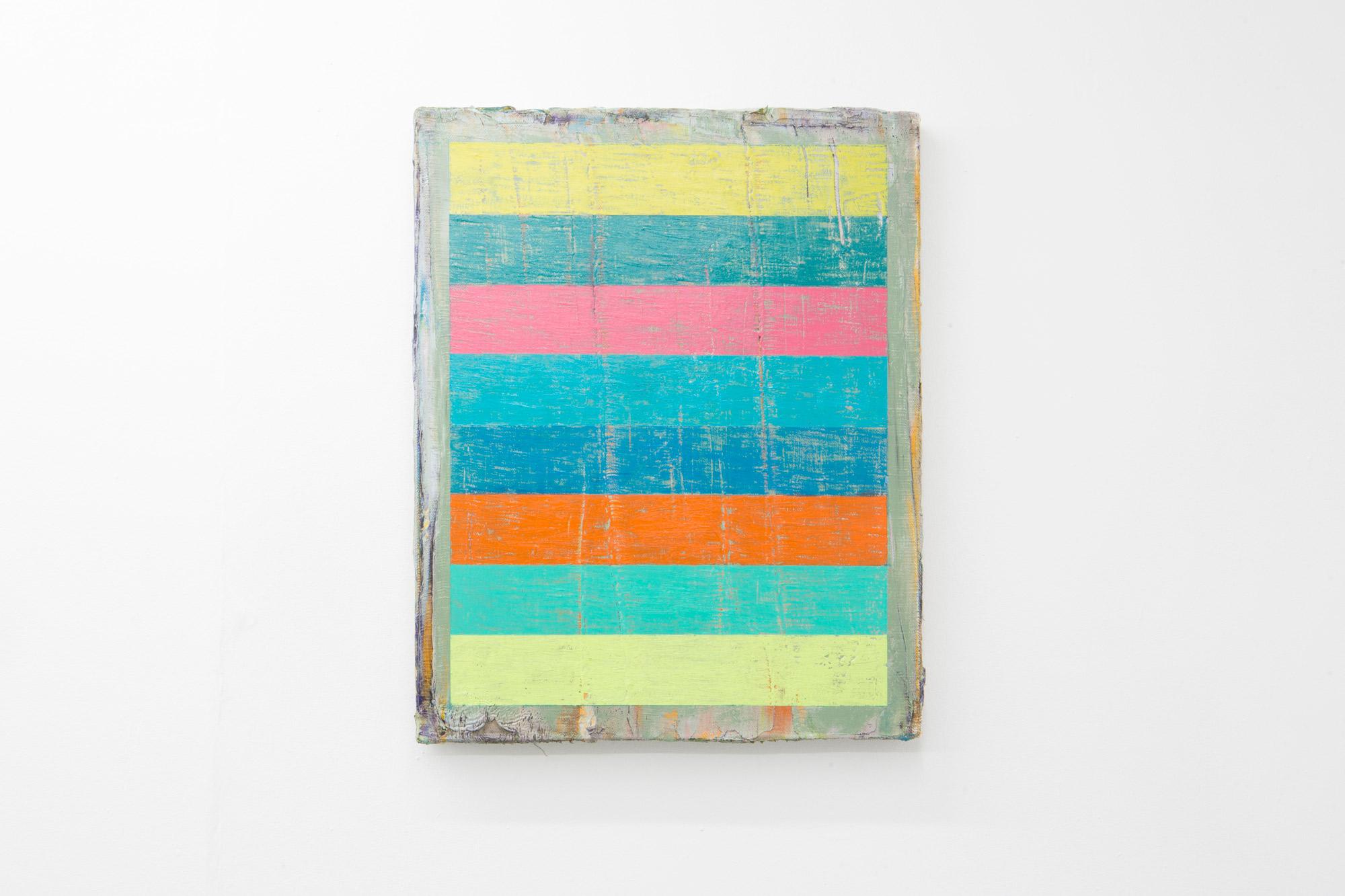 Stripes 2 (2019) Oil, oil bar and oil pastel on linen, (40cm x 50cm).
