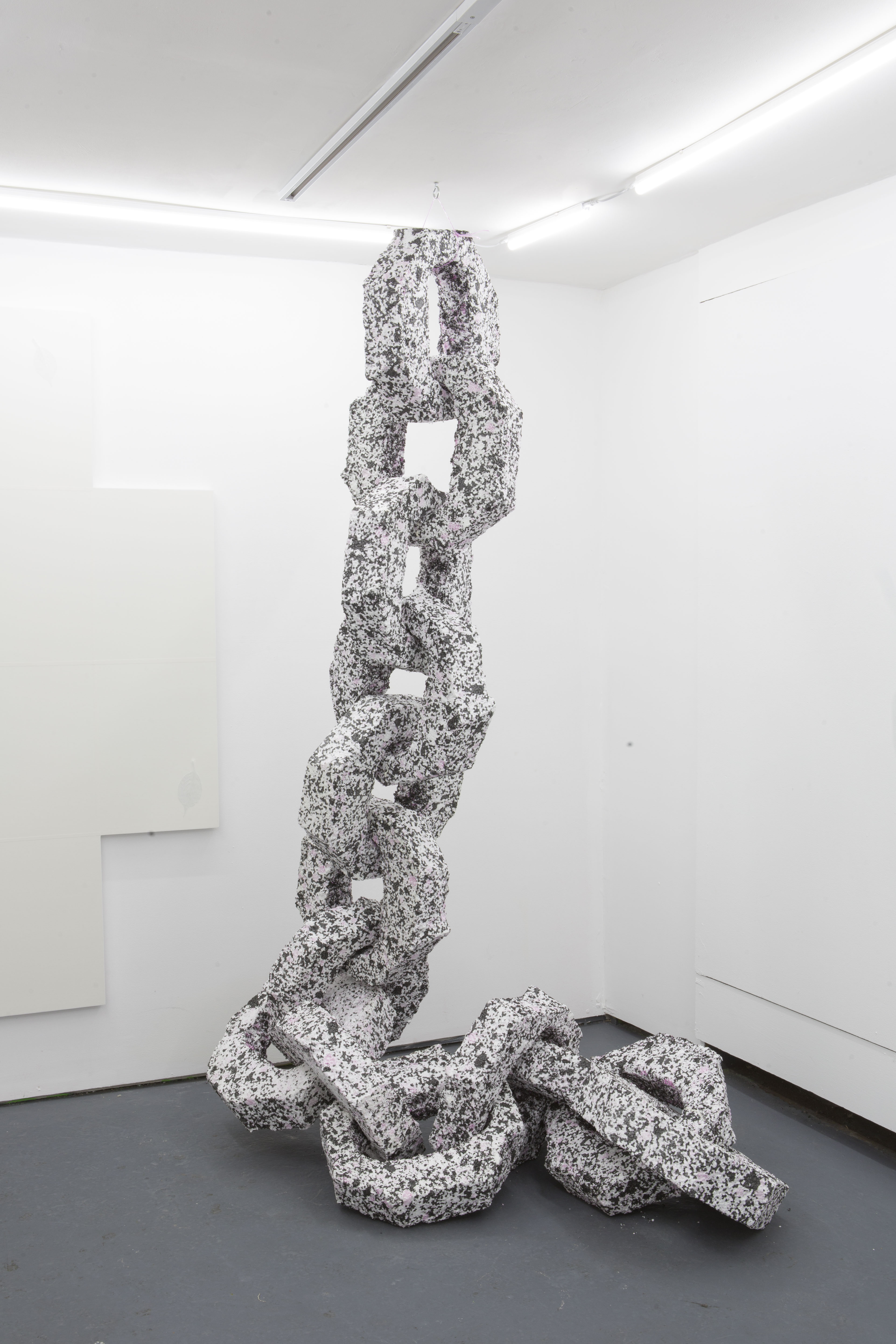 Billy Crosby Chain 03 (2019); Dimensions variable; Polystyene, string.