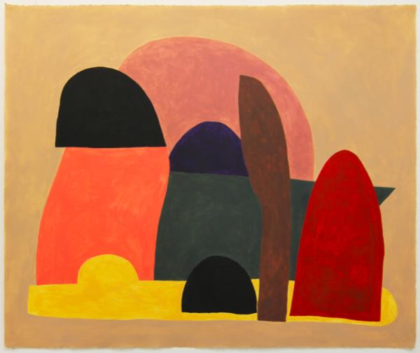 Jack Killick: Exits (2019) Acrylic on paper (64cm x 77cm).