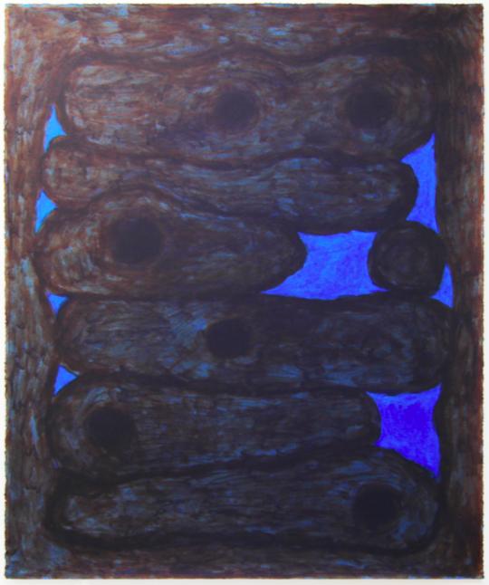 Jack Killick: Nest (2019) Acrylic on paper (77cm x 64cm).