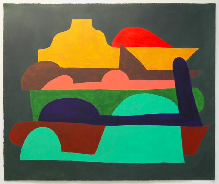 Jack Killick: Store (2019) Acrylic on paper (64cm x 77cm).