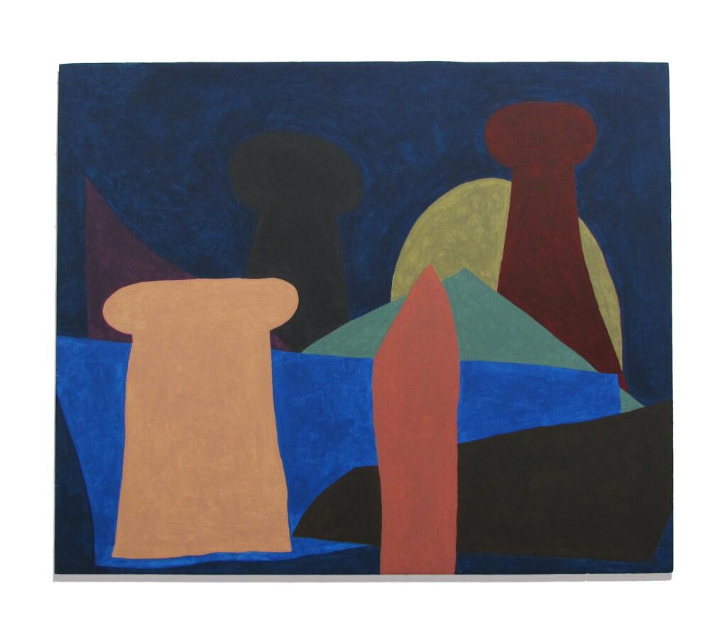 Jack Killick: Ring (2019) Acrylic on board (51cm x 61cm).