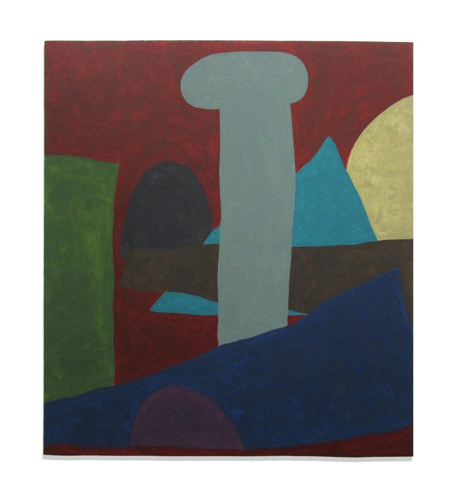 Jack Killick: Warren (2019) Acrylic on board (37cm x 32.5cm).