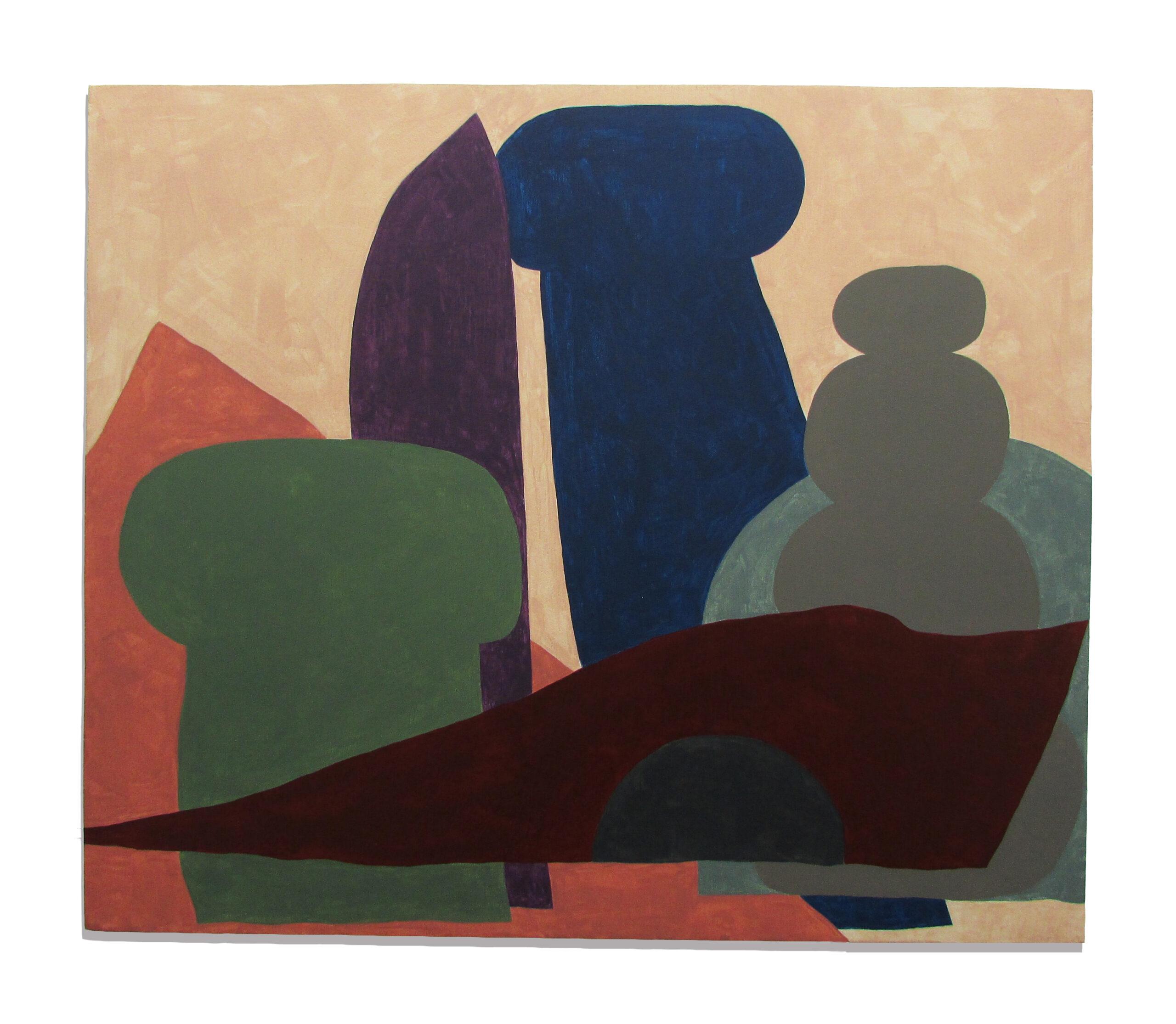 Jack Killick: Hopper (2019) Acrylic on board (43cm x 50.5cm).