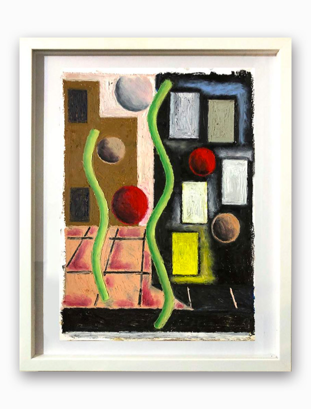 Rae-Hicks-Street-Scene-42x30cm-oil-pastel-on-paper-2020
