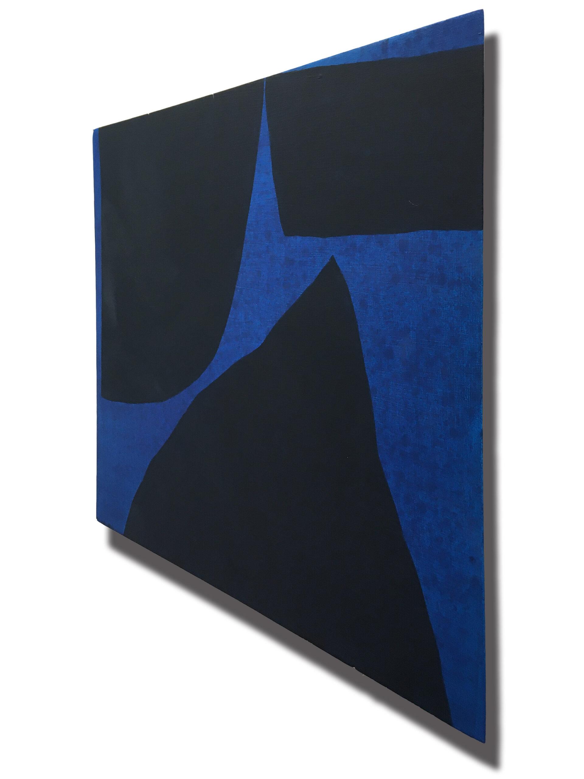 Jack Killick: Drop (2020) Acrylic on board (31.5cm x 36.5cm).