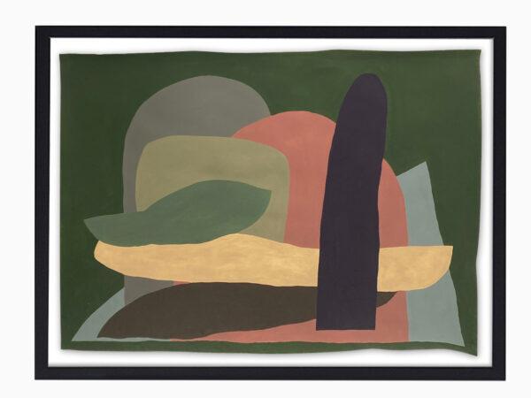 Jack Killick: Island (2019) Acrylic on paper (64cm x 77cm).