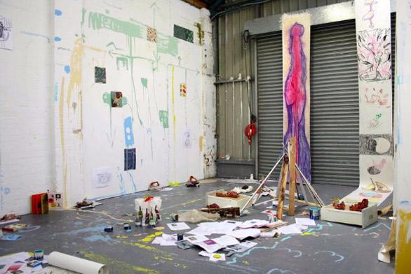 Lana Locke: solo exhibition Dolph Projects, Streatham, London, July 2016
