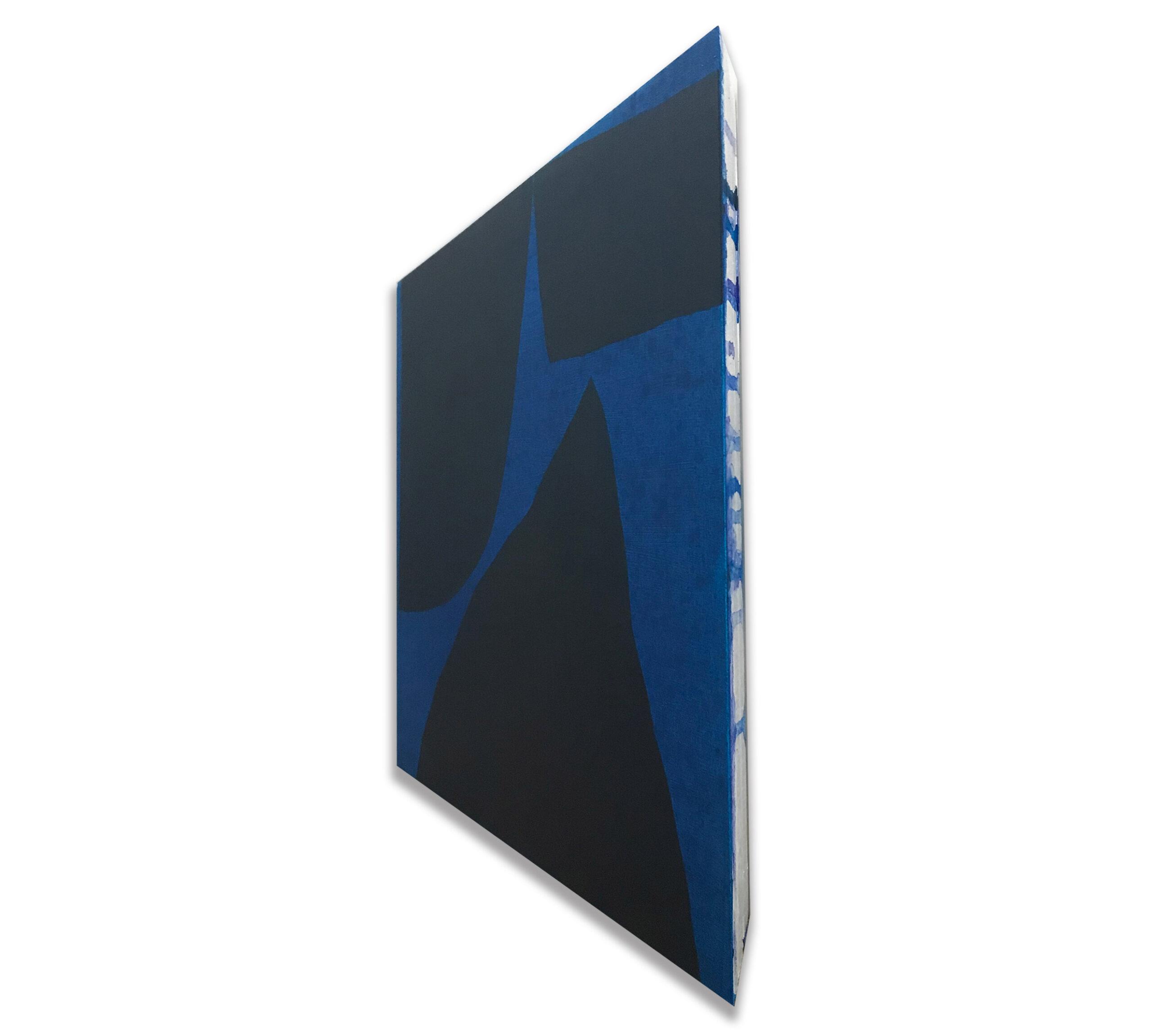 Jack Killick: Drop (2020) Acrylic on board (31.5cm x 36.5cm x 5cm) detail