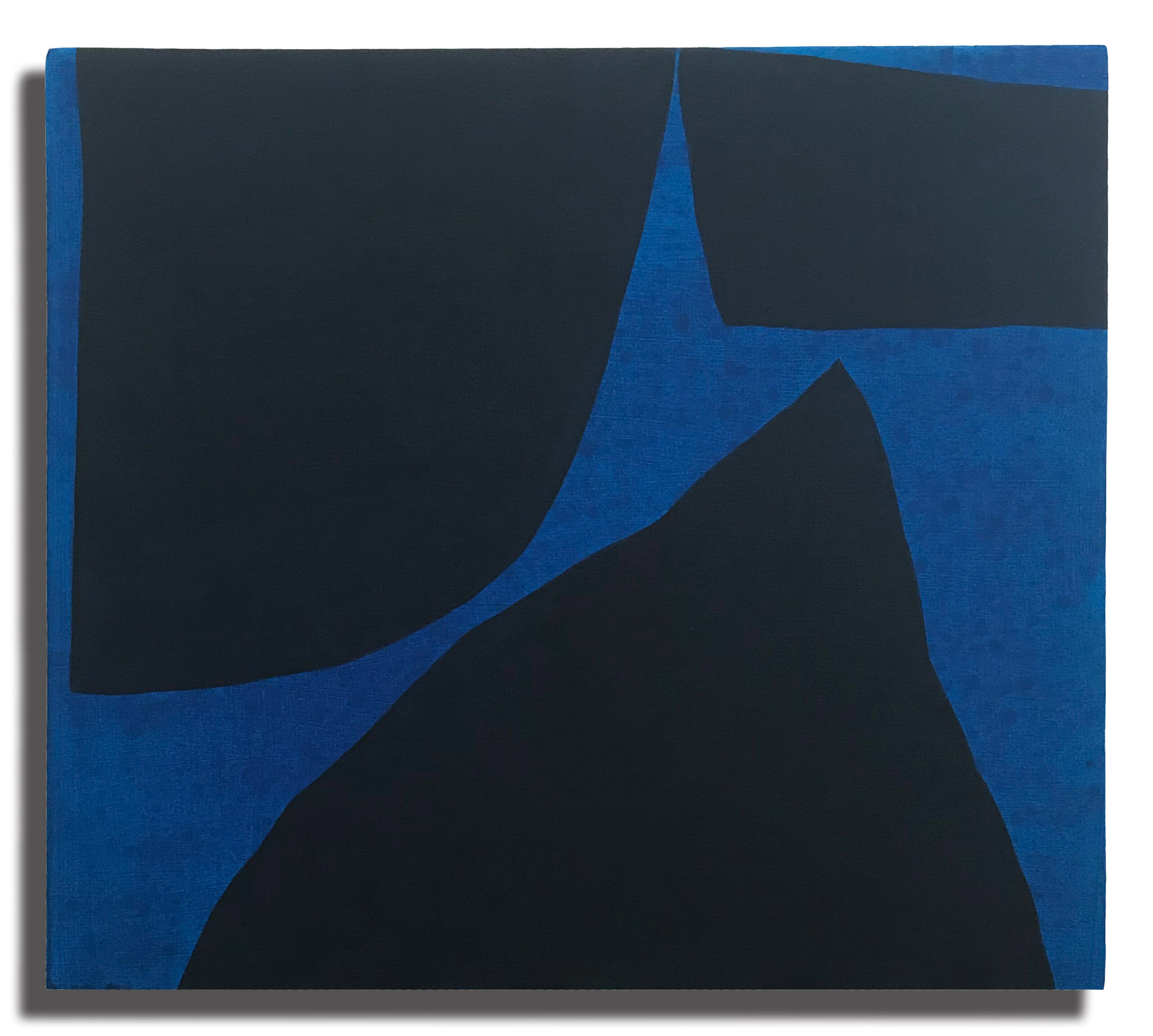 Jack Killick: Drop (2020) Acrylic on board (31.5cm x 36.5cm x 5cm).