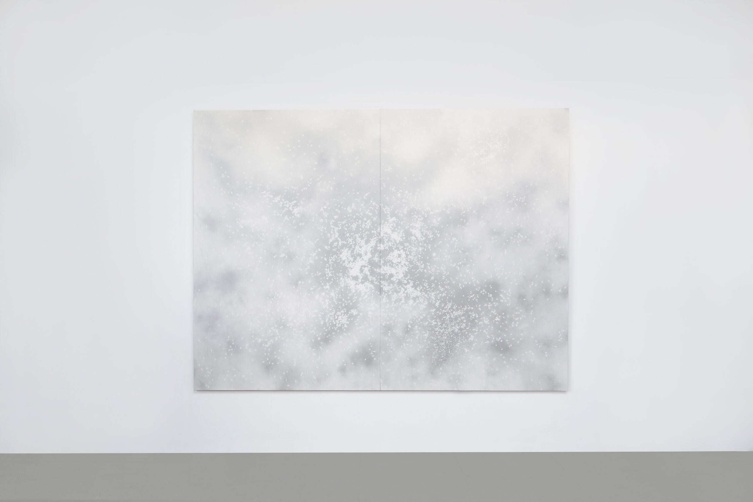 William Mackrell: Sunflower Melatonin (Seeds of Silver) (2019) Spraypaint on archival paper Mounted, framed 203 cm x 158 cm