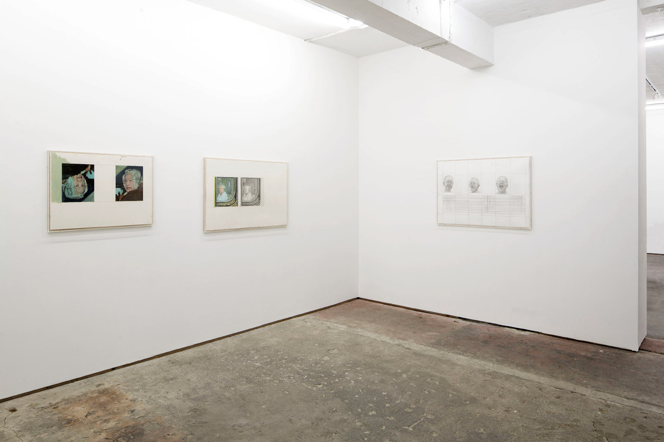 Stuart Brisley: Recent Paintings from the Museum of Ordure at Lungley gallery, London. Install