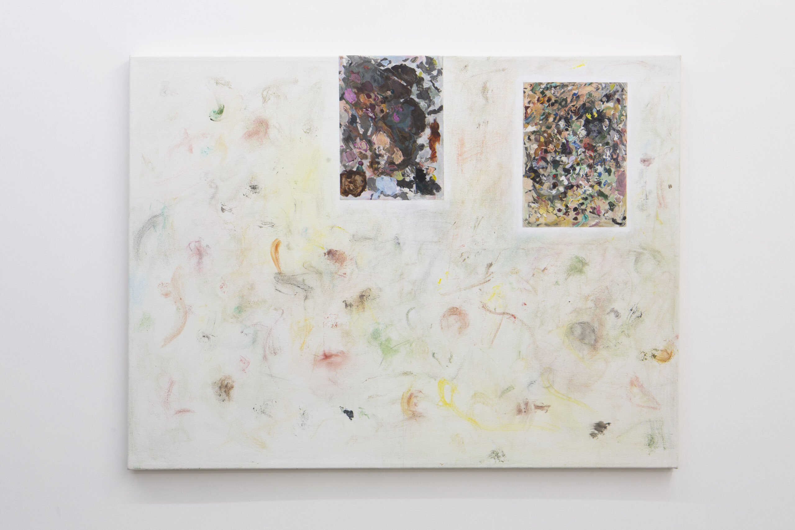 Stuart Brisley: Palettes from The Museum of Ordure (2020) Acrylic on gesso on canvas 92 cm x 122 cm