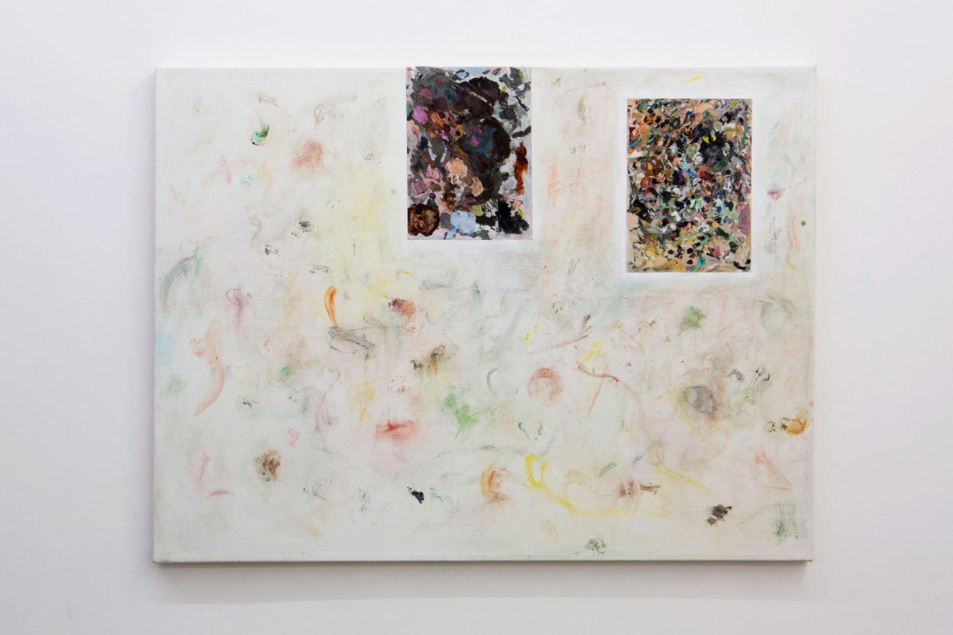 Stuart Brisley: Palettes from The Museum of Ordure 2020 Acrylic on gesso on canvas, 92 cm x 122 cm