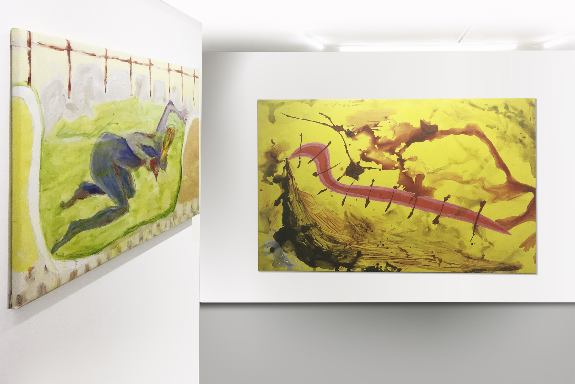 Exhibition view Lana Locke I never could drink like Francis Bacon (2019) at Lungley Gallery