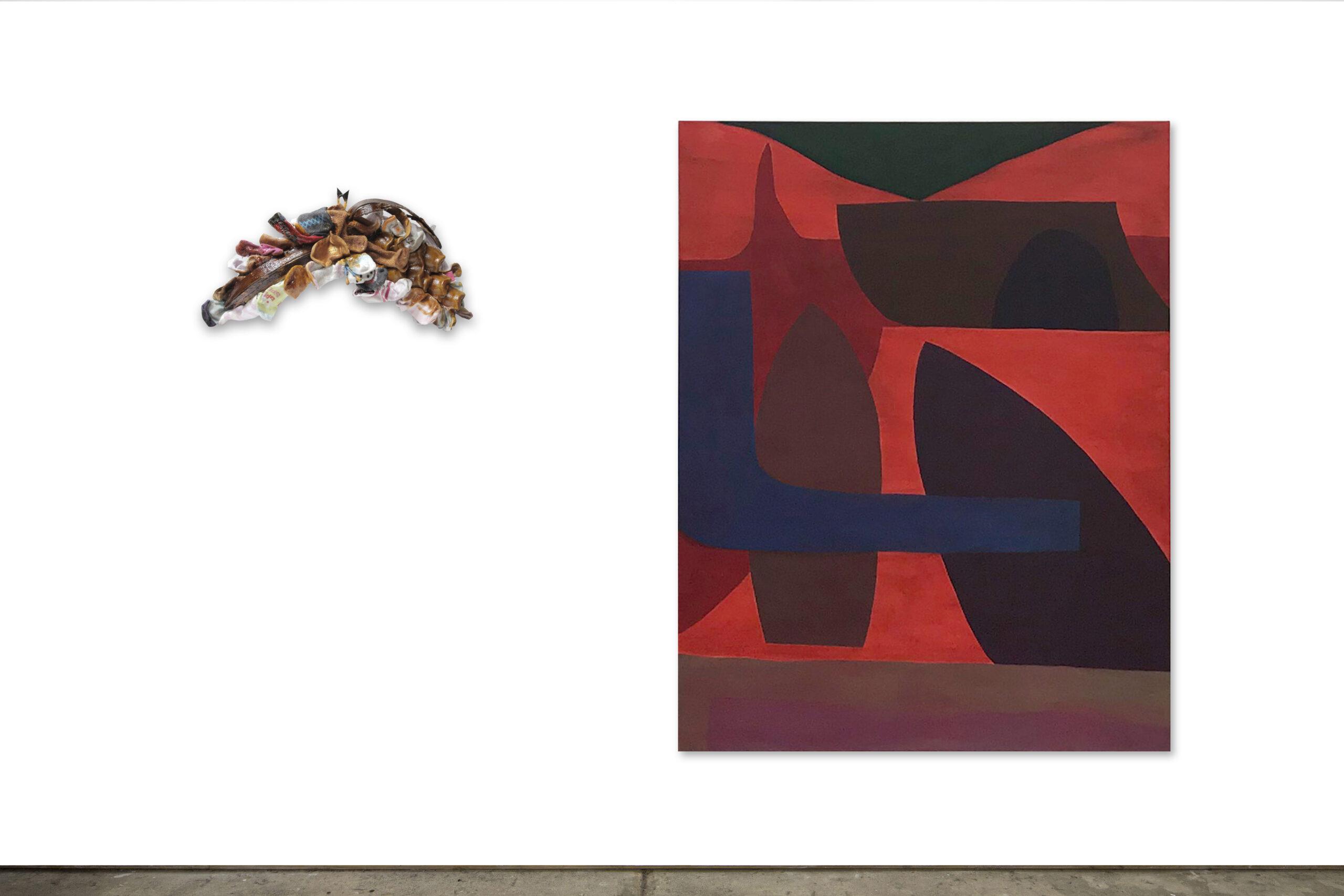 Junction (2020) Acrylic on canvas 140 cm x 110 cm