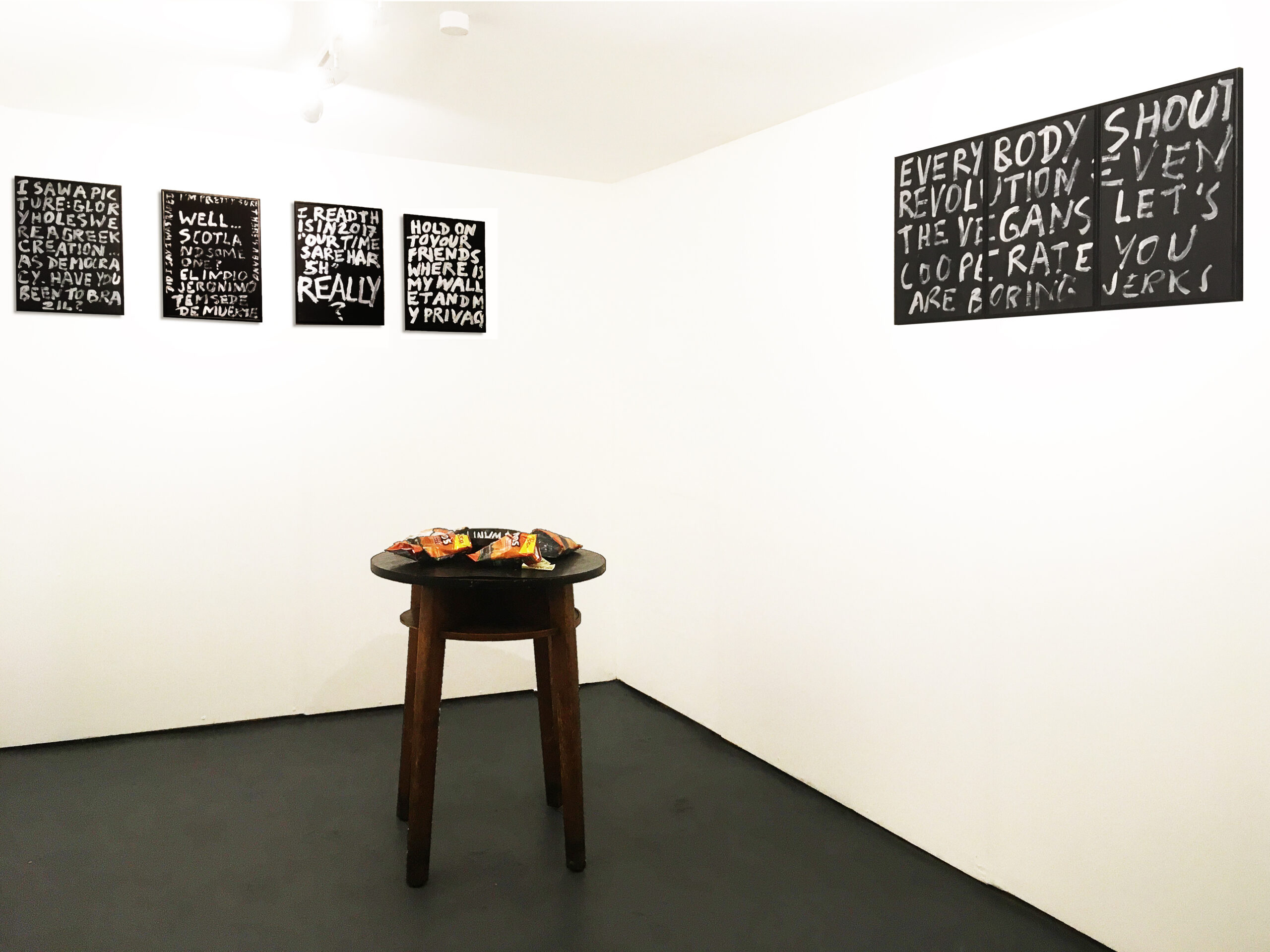 Exhibition view: Adriano Costa THISMEMEMEISUS at Lungley Gallery, London