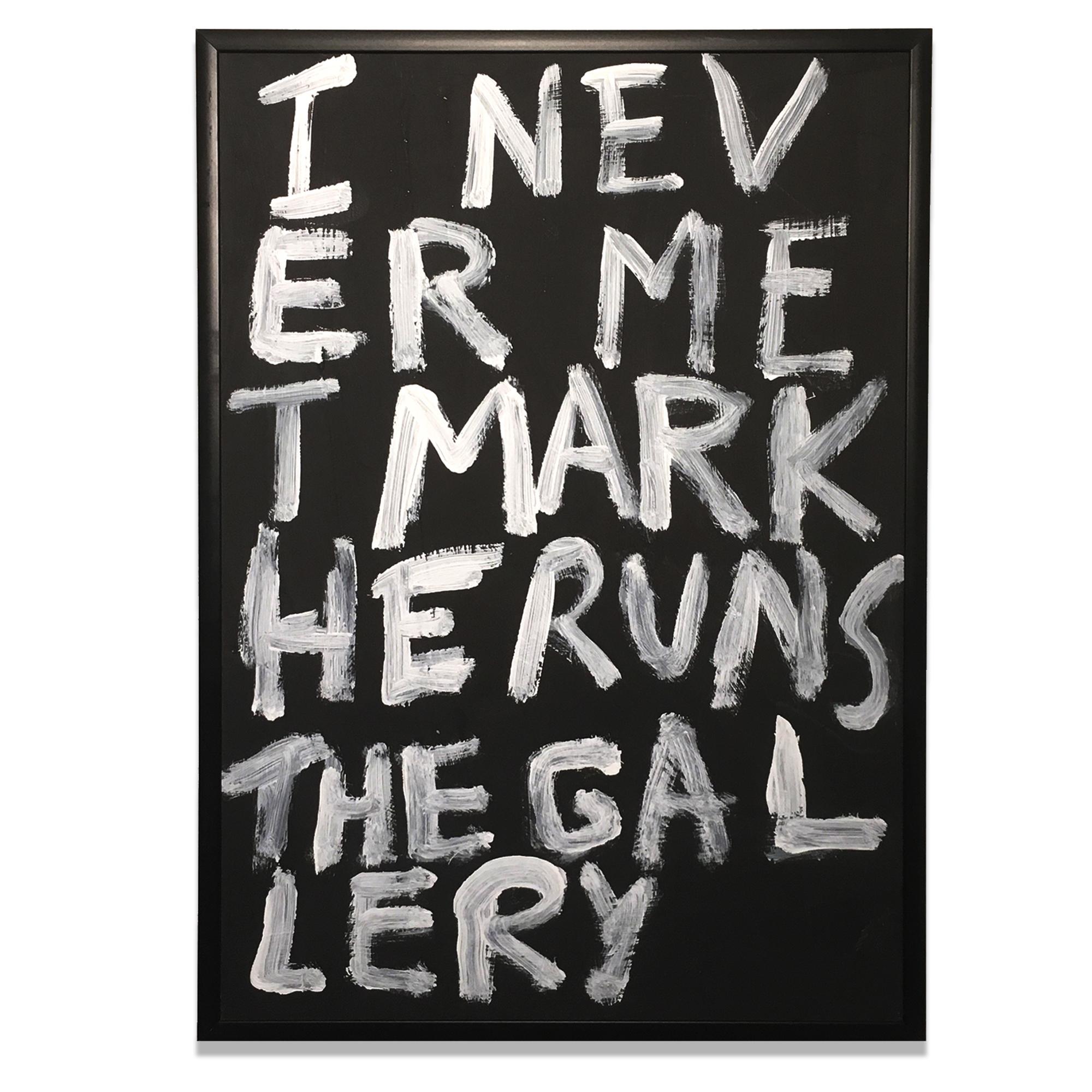 Adriano Costa: I Never Met Mark He Runs The Gallery (2018)