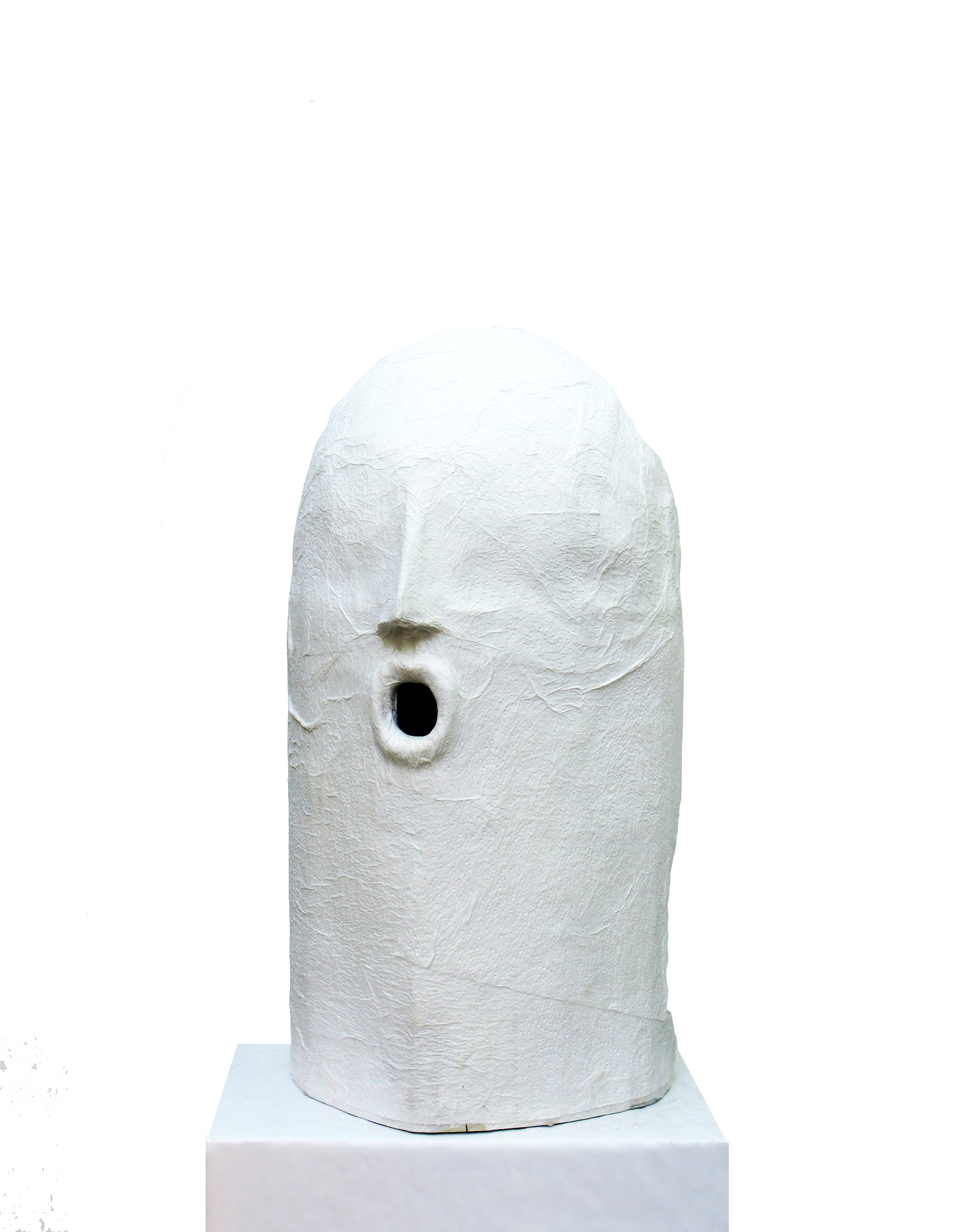 David Harrison One in the Eye (Mobile Glory Hole), 2012 Paper towels, cardboard and mixed media 44 x 22 x 24 cm 17 3/8 x 8 5/8 x 9 1/2 in