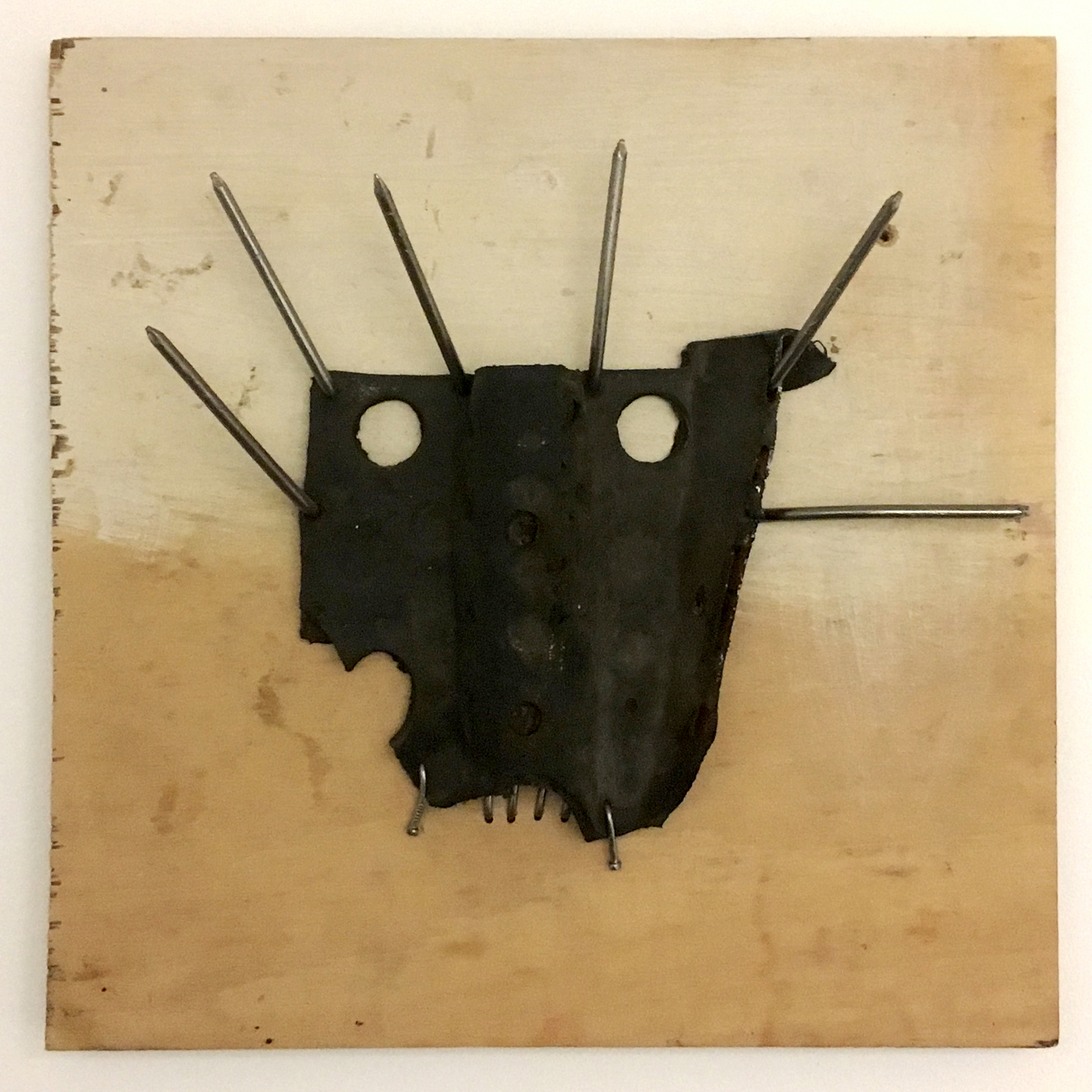 David Harrison: Playtime (2004) Found objects on wood, 32 x 32.5 cm 12 5/8 x 12 3/4 in