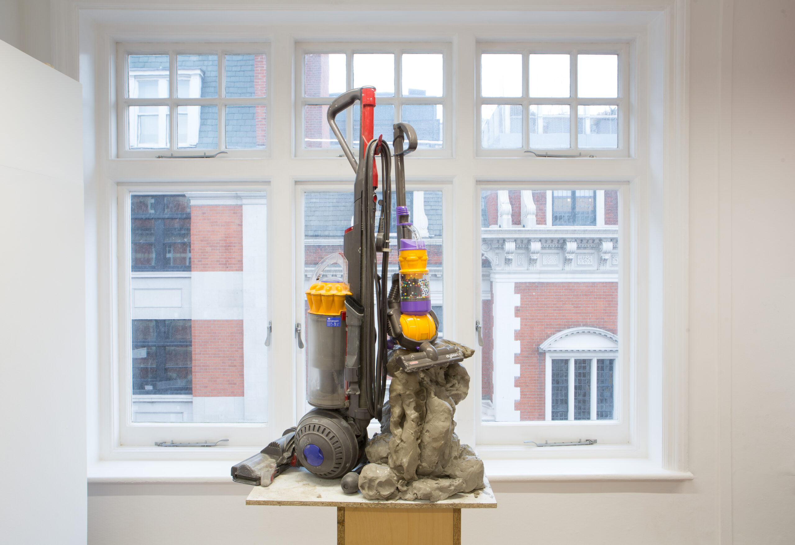 Harley Kuyck-Cohen Art Deco (2021) Dyson Hoover, toy hoover and Clay, 93 cm x 70 cm x 70 cm.