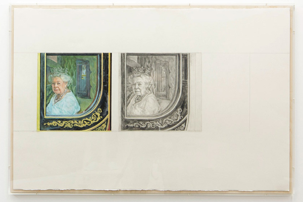 Stuart Brisley State Occasion from The Museum of Ordure (2020) Acrylic and graphite on paper, 67 cm x 101 cm