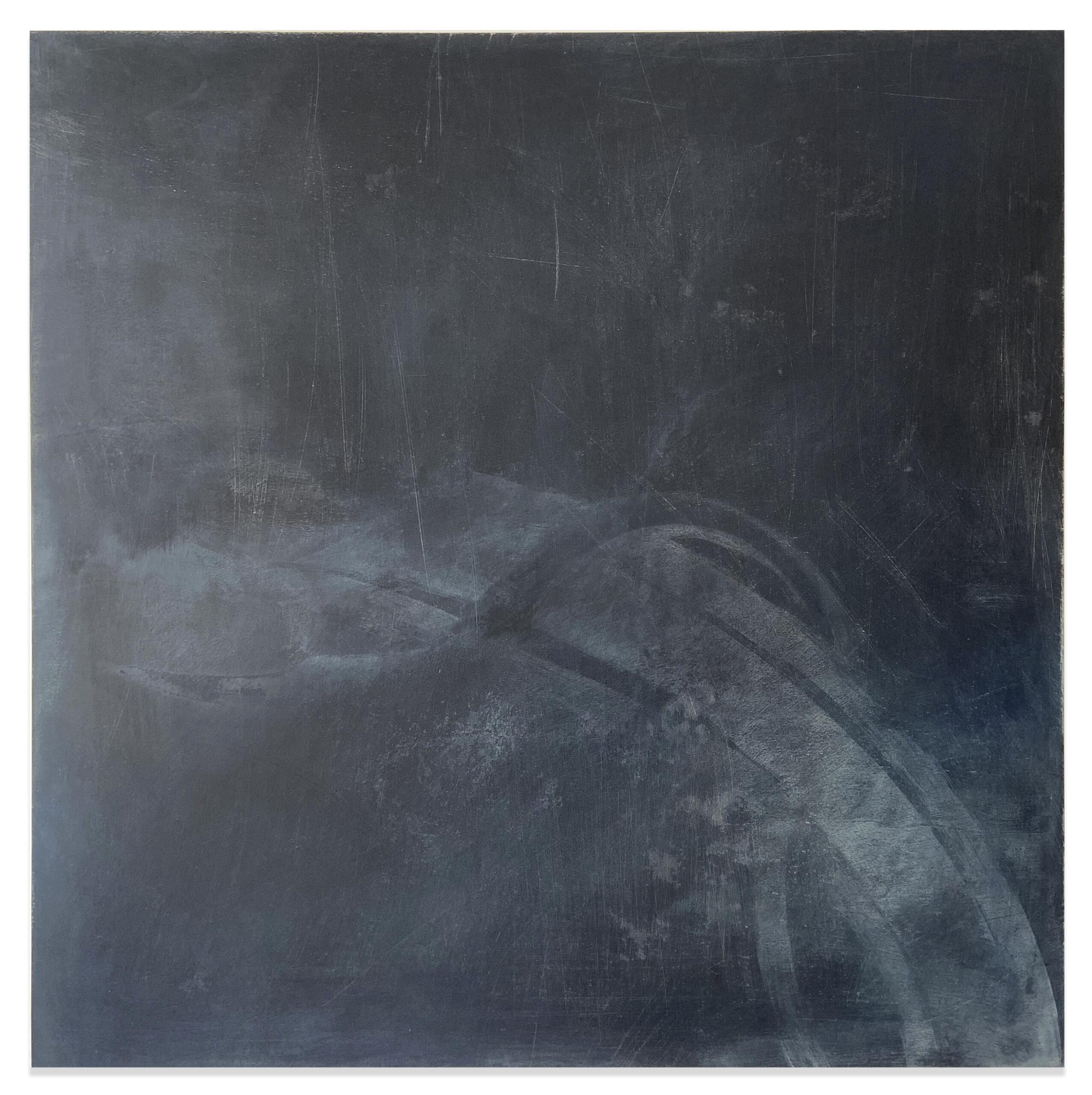Maya Balcioglu Untitled (2019-20) Ink, acrylic ink, powder pigment, acrylic glaze medium on board. 100 cm x 100 cm
