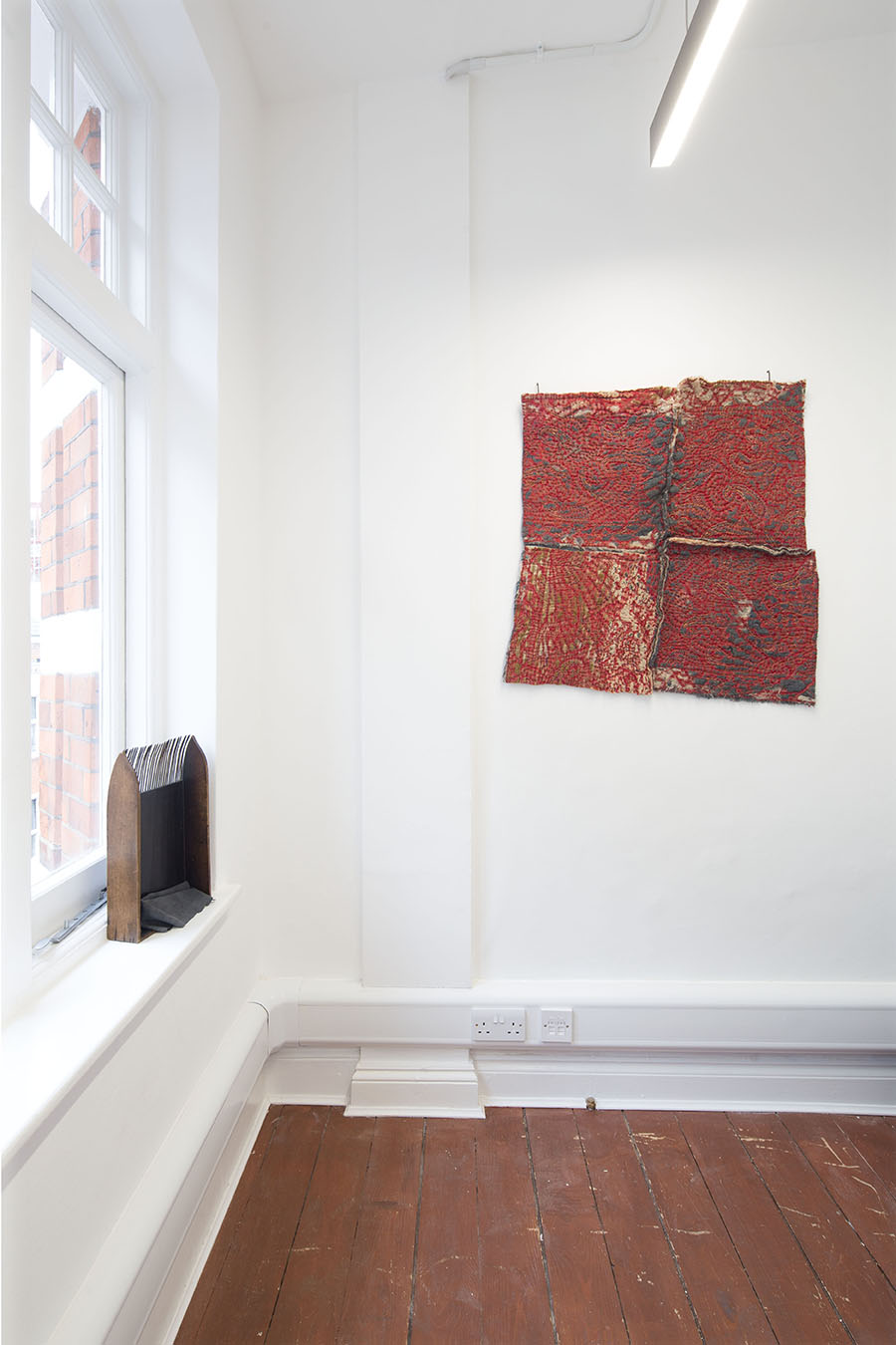 Maya Balcioglu: Recent Drawings and Fabric Works at Lungley Gallery. Exhibition view