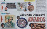 Lalit kala Akademi Awards - Daily Post by Urvashi Sharma