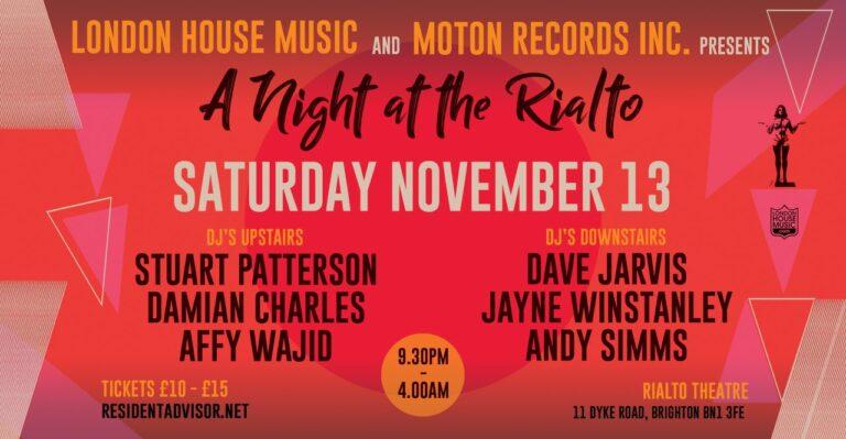 LHM head back to Brighton with Moton Records – 13 November