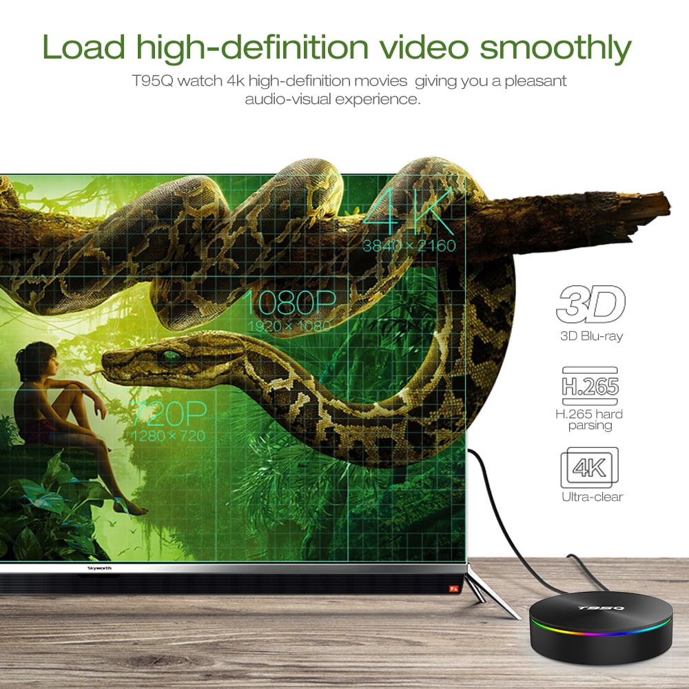 Firefly T95Q Android Smart TV Box T95Q 64bit Quad S905X2 2Ghz 4G DDR3 32G flash Android 8.1 OS 5G 2.4G 10