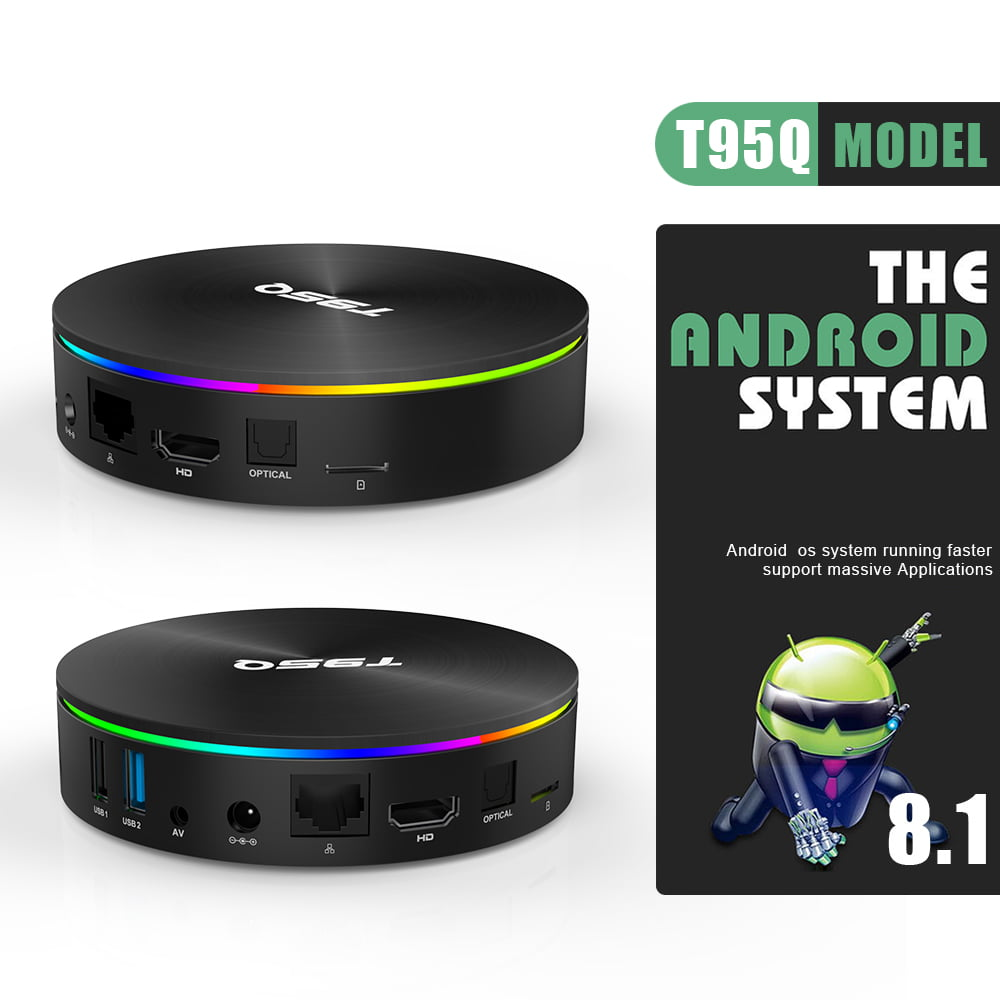 Firefly T95Q Android Smart TV Box T95Q 64bit Quad S905X2 2Ghz 4G DDR3 32G flash Android 8.1 OS 5G 2.4G 6