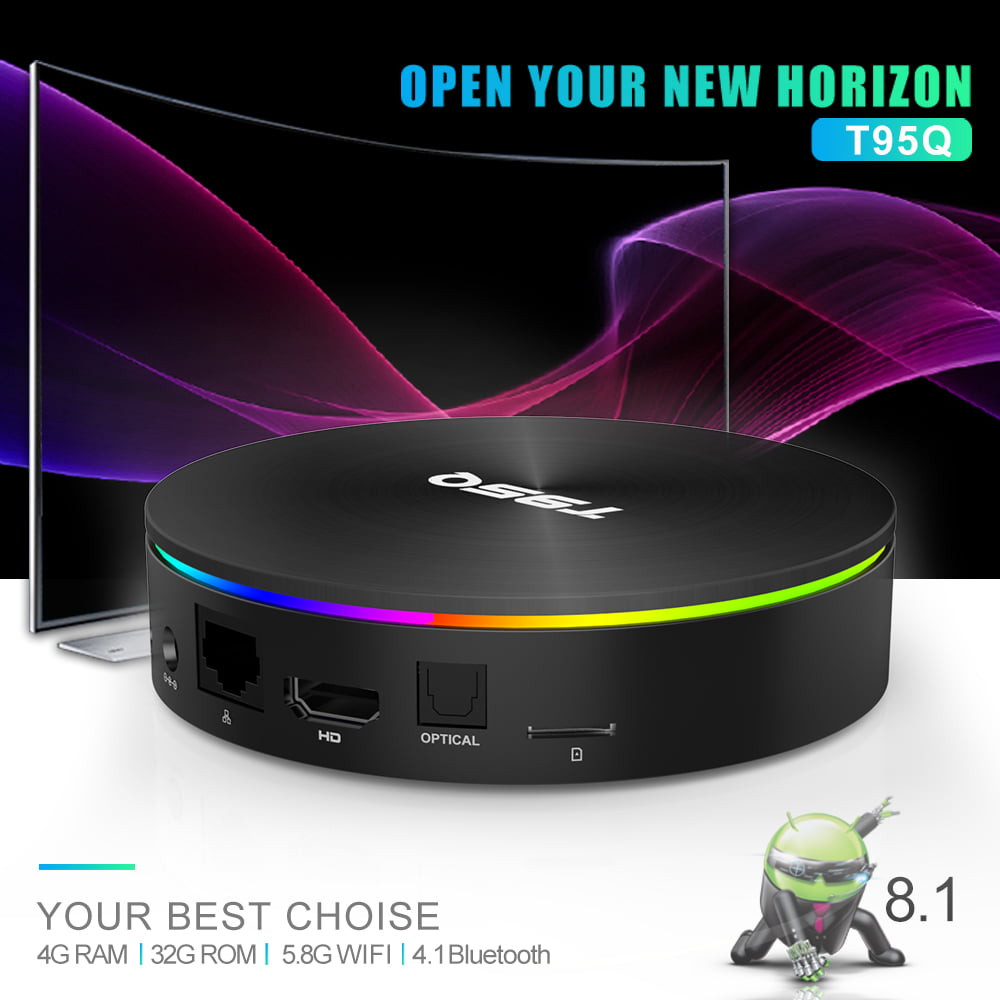 Firefly T95Q Android Smart TV Box T95Q 64bit Quad S905X2 2Ghz 4G DDR3 32G flash Android 8.1 OS 5G 2.4G 8