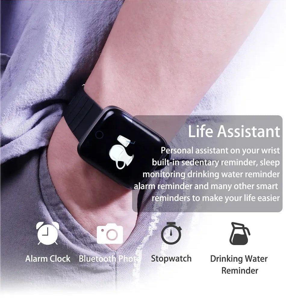 116 pro smart watch 1.3 inch heart rate blood pressure watch (4)
