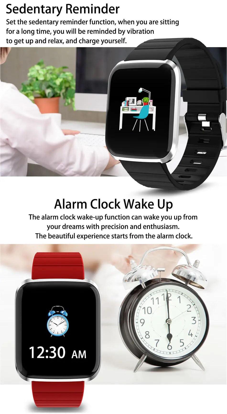 116 pro smart watch 1.3 inch heart rate blood pressure watch (5)