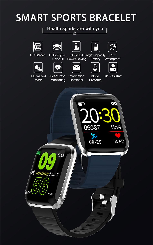 116 pro smart watch 1.3 inch heart rate blood pressure watch (8)