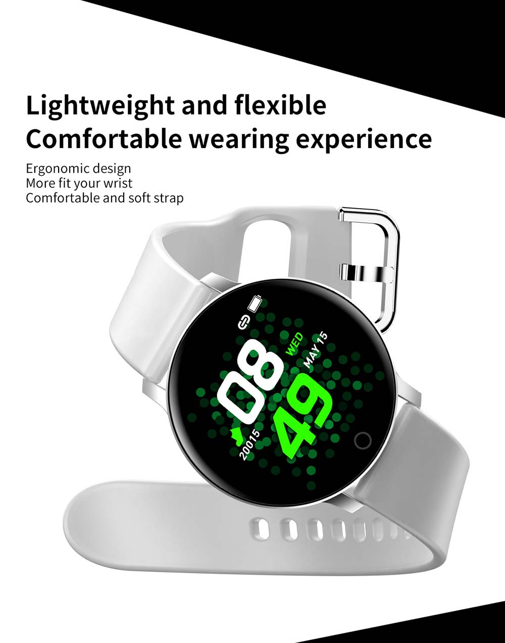 Bakeey smartwatch X9 1.3 inch heart rate blood pressure watch (8)