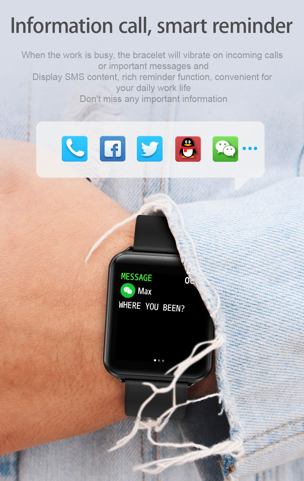 A10 1.3 inch full touch screen wristband (2)