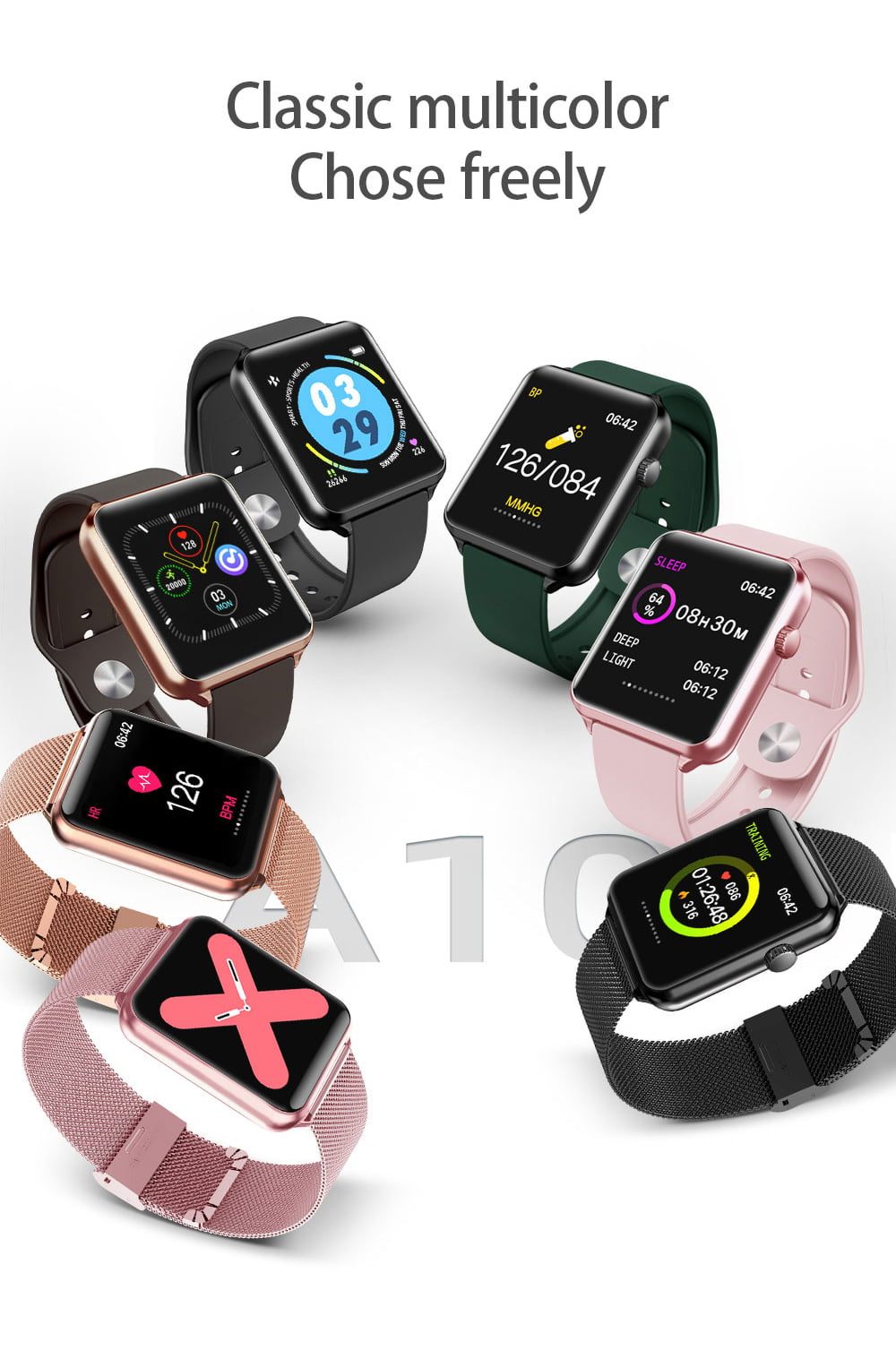 A10 1.3 inch full touch screen wristband (6)