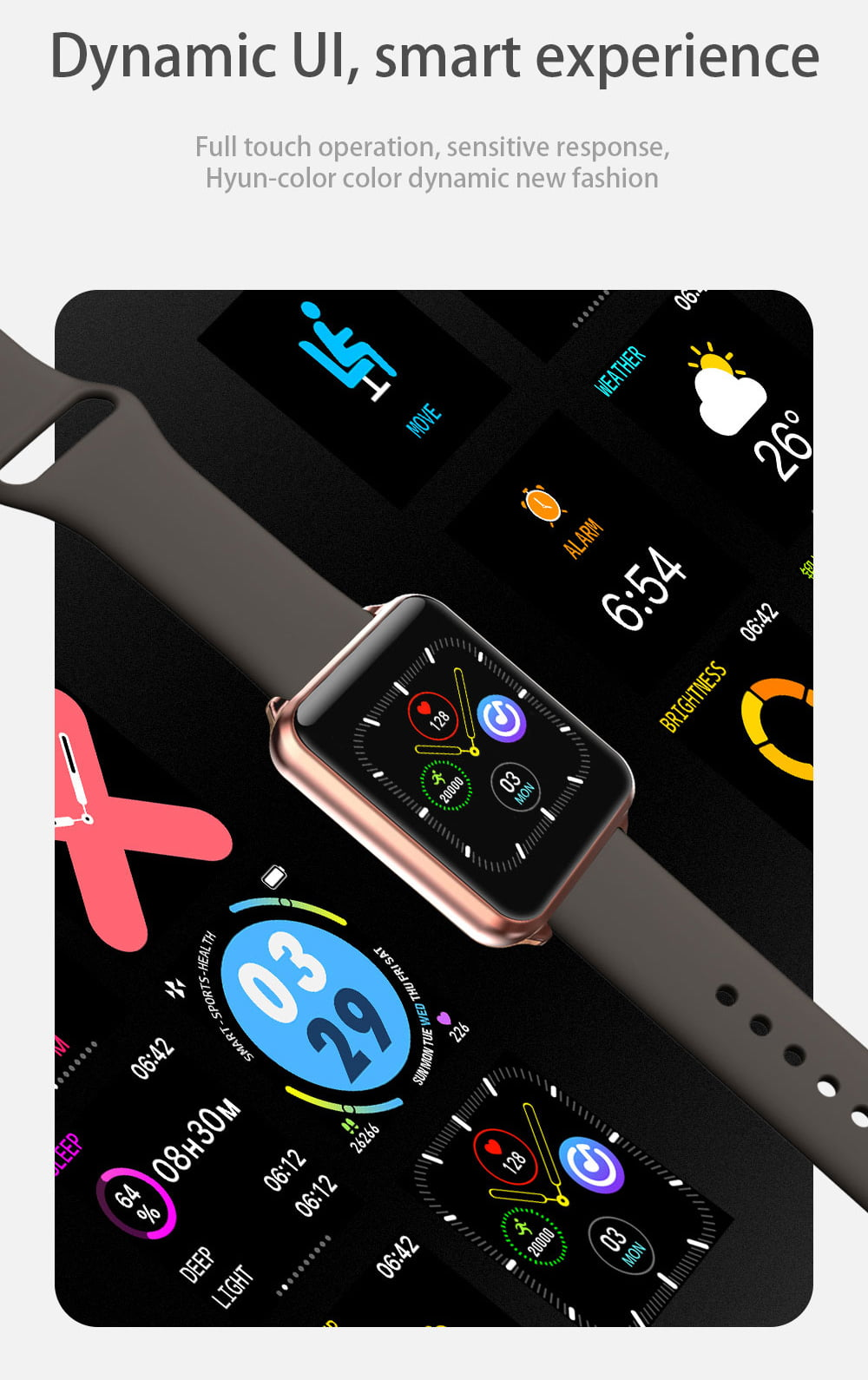 A10 1.3 inch full touch screen wristband (7)