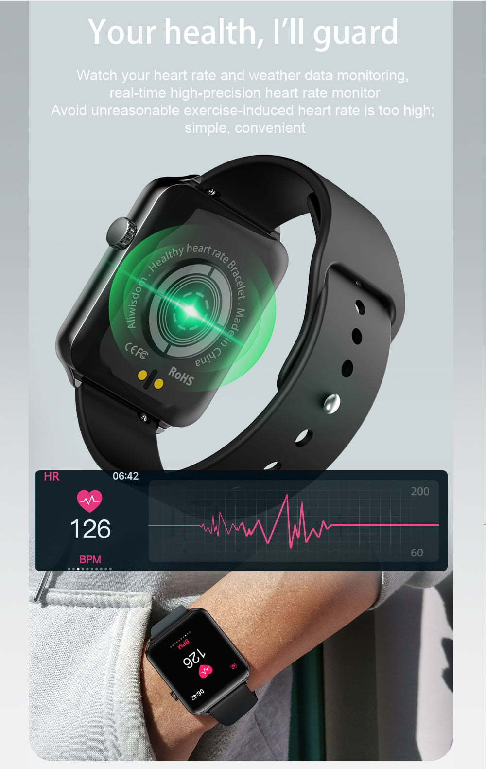 A10 1.3 inch full touch screen wristband (9)