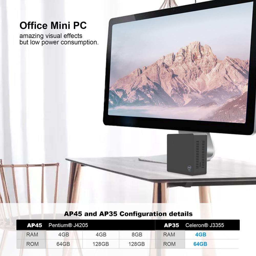 AP35 Windows 10 Mini PC Intel Apollo Lake J3355 4GB DDR4 64GB SSD (6)